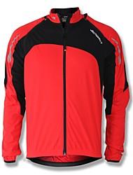 baratos -SPAKCT Homens Jaqueta para Ciclismo Moto Jaqueta / Blusas Térmico / Quente, A Prova de Vento Retalhos Vermelho / Verde / Azul Roupa de