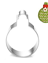 Christmas Decoration Bubble Ball Shape Cookie Cutter, L 7.6cm x W 6.6cm x H 2cm, Stainless Steel