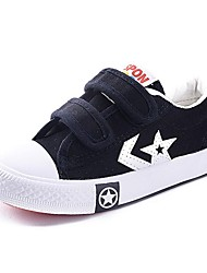 cheap -Boy's Girl's Sneakers Spring Fall Slide Comfort Canvas Calf Hair Outdoor Casual Athletic Flat Heel Magic Tape Black Blue Red White