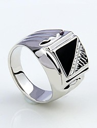 Korean Style Enamel Men's Statement Ring Jewelry Christmas Gifts