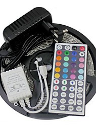 cheap -Led Strip Lights Kit 3528 5M 300leds RGB 60leds/m 44key Ir Controller and 3A Power Supply AC100-240V