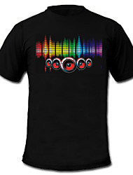 Sound and Music Activated EL Visualizer VU-Spectrum Dancer T-shirt (2*AAA)
