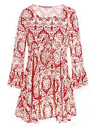 Недорогие -Эбигейл женщин Fahion длинным рукавом шею платье
