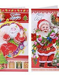 Недорогие -8 шт рождественские праздничные открытки открытки поздравительные открытки Переключить конверты - многоцветные (8 шт)