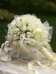 abordables -Fleurs de mariage Bouquets Mariage Fête / Soirée Soie 31cm