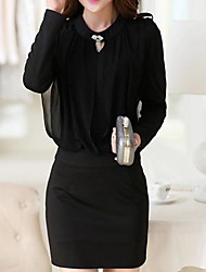 lápis senhora vestido de saia hip saco das mulheres (mais cores)