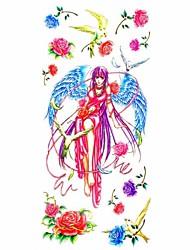 Outros Tatuagem Adesiva - Estampado/Waterproof - para Feminino/Girl/Adulto/Adolescente - de Papel - Multicolorido - #(18.5*8.5) #(1)