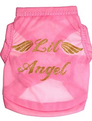 cheap -Cat Dog Shirt / T-Shirt Dog Clothes Angel & Devil Pink Costume For Pets