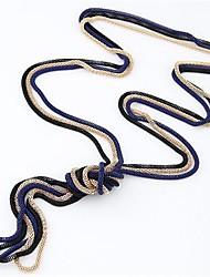 economico -Per donna Collana vintage - Serpente Stile semplice, Di tendenza Blu, Rosa, Dorato Collana 3 pezzi Per Quotidiano