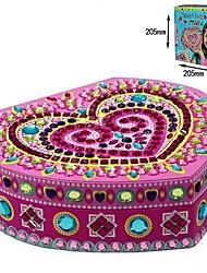 Недорогие -ювелирных изделий коробки в форме сердца липкие мозаики сборка строительных блоков игрушки