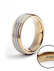anneau de cadeau personnalisé en acier inoxydable gravé bijoux