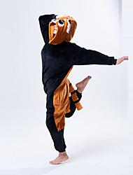 baratos -Pijamas Kigurumi Urso Guaxinim Pijamas Macacão Ocasiões Especiais Lã Polar Laranja Cosplay Para Adulto Pijamas Animais desenho animado