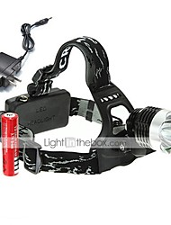 cheap -Headlamps Bike Lights Headlight LED 1800 lm 3 Mode with Batteries and Charger Rechargeable Anglehead Camping/Hiking/Caving Everyday Use