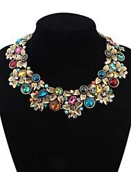 Недорогие -Жен. С цветами Мода Массивные украшения европейский Заявление ожерелья Сплав Заявление ожерелья ,