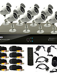 8 Channel CCTV DVR System(8 Outdoor Warterproof Camera,PTZ Control)