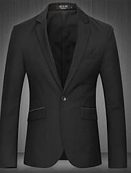 cheap -Men's Classic & Timeless Blazer-Solid Color,Pure Color