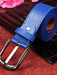 cheap -Men's Party/Evening Causal Groom/Groomsman Ocean Blue PU Belt