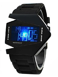 Недорогие -Personalized Fashionable Men's Watch Sports LED Stealth Aircraft Silicone Strap