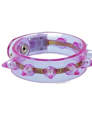 LED Flashing Bracelet Design Plastic Party LED Light Stick(Random Color x1pcs)