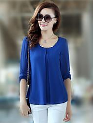 camisa de chiffon estilo coreano das mulheres