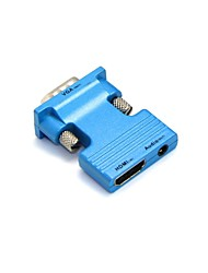 cheap -LWM® HDMI Female to VGA Male and 3.5mm Audio Out Adapter for PC LCD