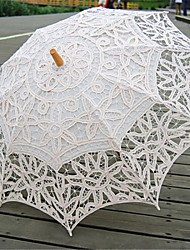 "cheap -Wedding Cotton Umbrella Post Handle 26.8""(Approx.68cm) Wood 30.7""(Approx.78cm)"