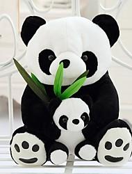 Недорогие -25см матери и ребенка панда мягкая игрушка (черный&белый)