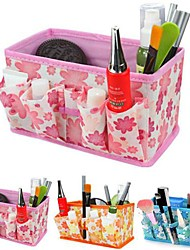 pliage de fleurs cosmétiques motif support de stockage boîte de maquillage brosse pot organisateur cosmétique