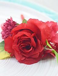 Bouquet sposa Forma libera Rose Fiore all'occhiello Matrimonio Partito / sera Cotone Seta