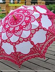 baratos -Casamento / Praia / Diário / Mascarilha Renda / Algodão Guarda-chuva 26polegadas (Aprox.66cm) Metal / Madeira 30.7polegadas (Aprox.78cm)