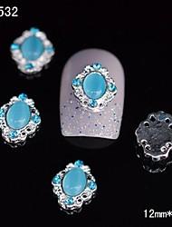 Недорогие -10шт 3d голубой глаз сплава ногтей камень наклейка поделки ногтей украшения