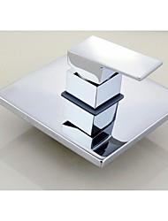 abordables -Moderne Montage mural Soupape céramique Mitigeur un trou Chrome, Robinet de douche