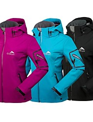 Women's Hiking Softshell Jacket Waterproof Thermal / Warm Fleece Lining Waterproof Zipper Front Zipper High Breathability (>15,001g)