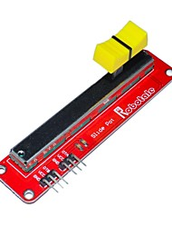 cheap -FR4 + Aluminum Alloy Electronic Slide Potentiometer Module for Arduino - Red + Black + Yellow
