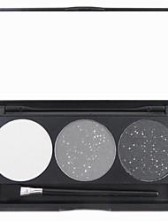 3 Paleta de Sombras Secos / Mate / Brilho / Mineral Paleta da sombra Pó Normal Maquiagem para o Dia A Dia