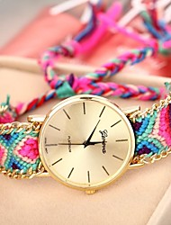 cheap -Geneva Women's Quartz Bracelet Watch Casual Watch Fabric Band Bohemian Fashion Multi-Colored