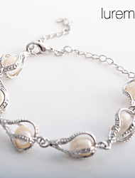 Women's Water Drop Shaped Pearl Bracelet Gifts Elegant Style