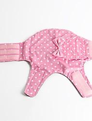 baratos -Cachorro Casacos Roupas para Cães Poá Laço Cinzento Roxo Verde Azul Rosa claro Terylene Ocasiões Especiais Para animais de estimação