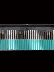 billige -30pcs sølv legering søm værktøj borehoveder og slibning Banders nail art