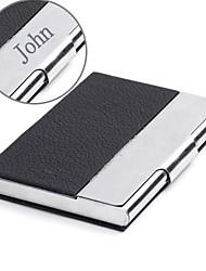 economico -pelle nera personalizzata e acciaio inossidabile cassa di carta