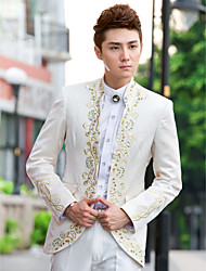 cheap -Tuxedos Slim Fit Mandarin Collar No Buttons Polyester Pattern