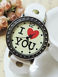 baratos -Mulheres / Unisexo Relógio de Moda Chinês Azulejo Outro Banda Relógio de Pulso