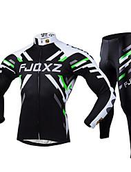 FJQXZ Calça com Camisa para Ciclismo Homens Manga Longa Moto Camisa/Roupas Para Esporte Meia-calça Conjuntos de Roupas Inverno Roupa de