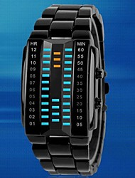 cheap -Men's Rectangle Case Alloy Band  LED  Sport Waterproof Watch (Assorted Colors) Cool Watch Unique Watch