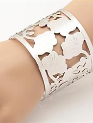 Недорогие -u7® красивый цветок полые коренастый 18k реальное золото платина покрытием обернуть браслет
