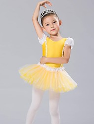 cheap -Kids' Dancewear Tops Dresses&Skirts Tutus Children's Chiffon Spandex Long Sleeve