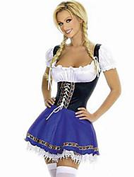 cheap -Seductive Beer Girl with No Shoulder & Bandage Terylene Maid Uniform