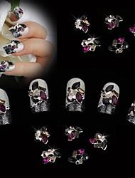 billige -Negle Smykker Negle kunst Manicure Pedicure Metal Blomst / Klassisk / Bryllup Daglig