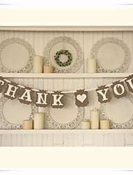 "Wedding Décor ""THANK YOU"" Bunting Banner Rustic Shabby Garland  Photo Prop"