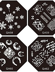 cheap -1PC New Nail Stamping Image Plates Tropic Suki Flower Plate for DIY Nail Art Decorations(Assorted Pattern)